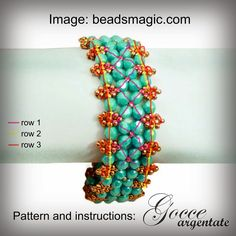 Hi everyone,     Today I want to share with you a quick pattern. I found this beautiful bracelet on Pinterest and I quickly pinned it onto ...