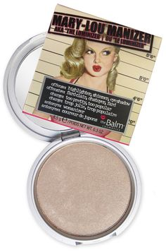 The Balm - Mary Lou Manizer. This stuff is amazing! I am obsessed with this product (and it's not even by MAC). Best highlighter I have found! It's a must have in any makeup bag!