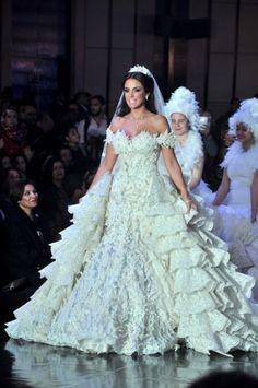 07b7e888e7d6f Hany el behairy egyptian designer wedding dress of collection worn by Dorra