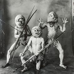 Irving Penn American, 1917–2009 Three Asaro Mud Men, New Guinea, 1970, printed 1984
