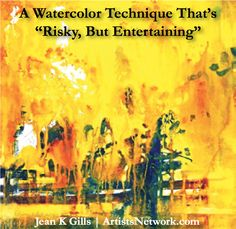 Always love hearing about new ways to use watercolor! ArtistsNetwork.com for #art #painting #landscapes #watercolour