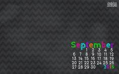 September 2015 Desktop Calendar Wallpaper