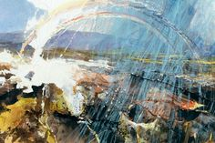 David Tress born 11 April 1955 is a British artist noted particularly for his deeply personal interpretations of landscapes in and around his home in Pembro Abstract Landscape Painting, Watercolor Landscape, Landscape Art, Landscape Paintings, Landscape Photography, Abstract Art, Glasgow, A Level Art, Contemporary Landscape