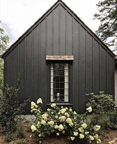 Exterior Paint Colors, Exterior House Colors, Paint Colors For Home, Exterior Design, Interior And Exterior, Siding Colors, Exterior Siding, Exterior Remodel, Black House Exterior