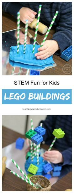 STEM Playdough Building Challenge - This activity works well with mixed ages. Ours involved toddlers and preschoolers. Teaching 2 and 3 year olds