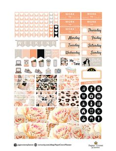French Chic Printable Planner Stickers/Planner Stickers for