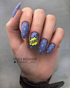 Keep reading for 90 of our favorite easy winter nail designs to add to your manicure to-do list. kurz Let these 90 winter nails designs ideas inspire your next manicure Cute Summer Nail Designs, Cute Summer Nails, Short Nail Designs, Cute Nails, My Nails, Pop Art Nails, Nail Polish Designs, Nail Art Designs, Nails Design