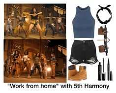 """""""Work from home""""with fifth harmony by brissaivonee on Polyvore featuring polyvore fashion style Topshop Timberland Carhartt New Look Marc Jacobs clothing brissasfashionsets"""