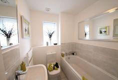 Half tile in the bathroom Abbey Mews, ARCHFORD, 4   David Wilson Homes