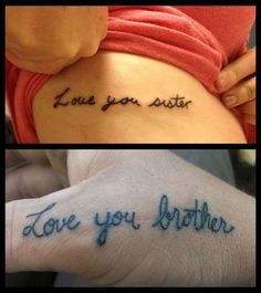 Grab the best brother and sister tattoos design that show an amazing bond between them. It is the best ever tattoo designs for all.