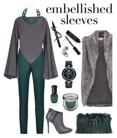 """""""Embellished sleeves"""" by kenga08 ❤ liked on Polyvore featuring Raoul, Balenciaga, DIANA BROUSSARD, DKNY, Marc Ellis, Mr & Mrs Italy, Deborah Lippmann, Urban Decay, Bobbi Brown Cosmetics and Versace"""