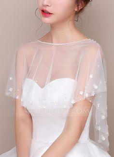 [US$ 17.00] Lace Tulle Wedding Wrap (013125017)