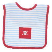 Alimrose Pirate Bib - Pale Blue Stripe #mamadoo #feeding #baby #bibs