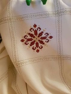 This Pin was discovered by Muh Cross Stitch Designs, Cross Stitch Patterns, Palestinian Embroidery, Christmas Concert, Wool Embroidery, Bargello, Beading Projects, Christmas Cross, Diy And Crafts