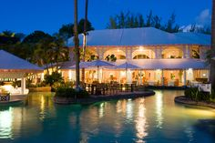 Some of our rooms here at #ColonyClub in #Barbados lit up at night!