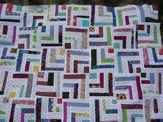 Quilts are for Giving: Half Log Cabin or Wonky Bento Box