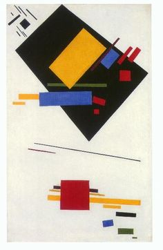 Kazimir Malevich. Suprematist Painting, oil on canvas, 1915