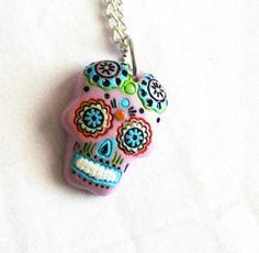 $12 sugar skull necklace