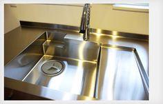 W2550mmステンレスのオーダーキッチン | オーダーキッチン製作例 | 家具工房クレアーレ