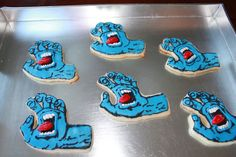 Santa Cruz screaming hand cookies!