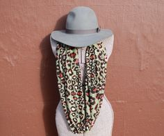 Olive Leopard Infinity Scarf perfect for fall  Only $22