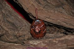 Mahogany Obsidian wire wrapped pendant by Catinas on Etsy, $10.00