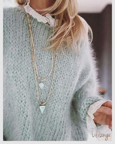 Trendy Ideas For Knitting Clothes Fashion Knitwear Knitwear Fashion, Knit Fashion, Look Fashion, Womens Fashion, Fashion Details, Mode Outfits, Fashion Outfits, Baby Outfits, Fashion Clothes