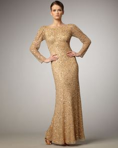 Sequin Dresses With Sleeves Long Sleeve Gold Sequin Dress