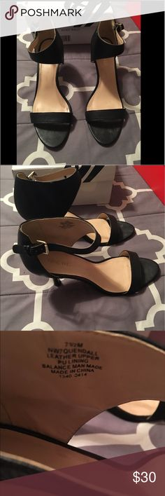 Nine West black heels Perfect for work Nine West 2 inch heels. Perfect to walk all day in the office or busy classroom. Go with pants, dresses and skirts. Nine West Shoes Heels