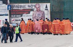 Rick Genest on Russian billboard