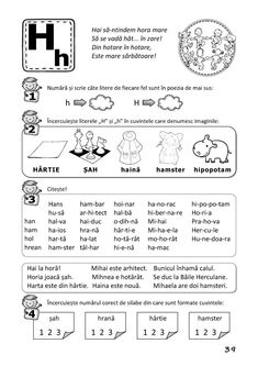 Clasa I : Învăț să citesc! - (A) Activities For Kids, Crafts For Kids, Preschool At Home, Printed Pages, Preschool Worksheets, Kids Education, Flower Crafts, Grade 1, Classroom