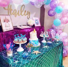 Unicorn Party Magical Celebration Mermaid Theme Birthday