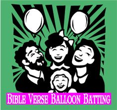 """The Scripture Lady loves creating Bible memory verse games! Here is one called """"Bible Verse Balloon Batting"""" to make memorizing Scripture fun. Scriptures For Kids, Bible Study For Kids, Bible Lessons For Kids, Bible Games, Bible Activities, Bible Trivia, Sunday School Activities, Sunday School Lessons, Bible Verse Memorization"""