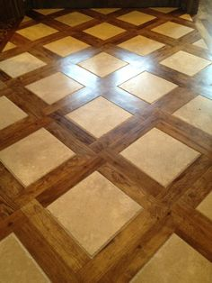 Gorgeous tile and wood plank design