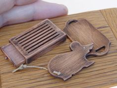 Doll House Miniature Artisan Victorian vintage Style Chopping Cutting Cheese Board.