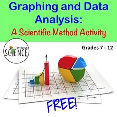 Free Graphing and Data Analysis Worksheet.  Provides much needed review, reinforcement and practice of graphing and data analysis skills.  Great for sub folders!