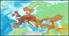 Migration map of Y-haplogroup R1b from the Paleolithic to the end of the Bronze Age - Eupedia