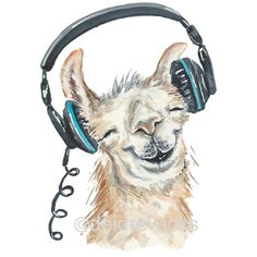 Llama Watercolor Painting 8x10 Watercolour PRINT, Music Lover, Nursery... ($17) ❤ liked on Polyvore featuring home, home decor, wall art, water colour painting, water color illustration, watercolor animal paintings, watercolor wall art and watercolor painting