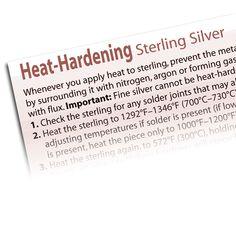 Heat hardening sterling silver