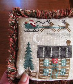Samplers and Santas Blog - link to do Turkey Stitch video to creat fringe.