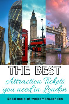 Your search ends here for the best offers and tickets to London's must-see attractions, such as the London Eye, the Shard, Tower of London and much more! London Tours, Tower Of London, London Travel, London Must See, London With Kids, Things To Do In London, Thames River Cruise, Visit England