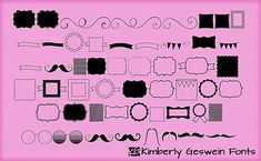 KG Flavor and Frames (One) Font by kimberlygeswein on @creativemarket