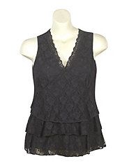 $22 Lace And Ruffle Top by One Step Up Plus