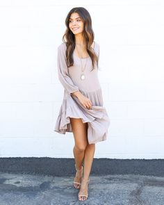 A divinely luxe and soft dress in our favorite babydoll silhouette! Our Peronne Dress is gorgeous in this gauzy feel and ruffled detail. We love the full body and 3/4 sleeves of this staple! An expose