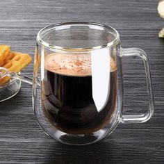Glass Cup Tea Coffee Cup Buy Now Double Wall Glass Cup Tea Coffee Cup Set with Handmade Heat-resistant Creative Mug Insulated Tea Mugs Transparent Drinkware Coffee Cup Design, Coffee Cup Cozy, Glass Coffee Cups, Ceramic Coffee Cups, Coffee Milk, Milk Tea, Coffee Maker, Coffee Jars, Coffee Corner