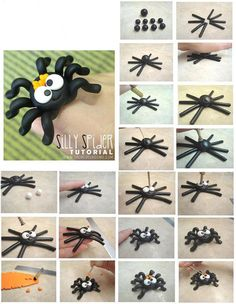 Baby Boom Serbia :: Topic: Svasta - Something Fondant - Trend Lingerie Party 2019 Polymer Clay Halloween, Cute Polymer Clay, Polymer Clay Creations, Diy Clay, Clay Crafts, Chocolat Halloween, Halloween Sweets, Halloween Baking, Halloween Cakes