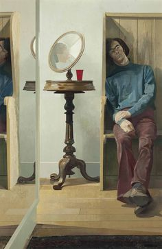 Norman Blamey, R.A. (1914-2000) Reflections oil on panel 69 ¼ x 45 in. (175.8 x 114.3 cm.)
