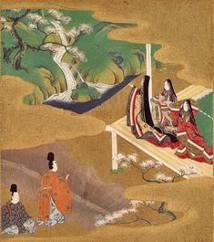 Heian aristocrats made a cult out of beauty.  Both men and women prized a rounded, plump figure. The face in particular would ideally have been round and puffy. Small eyes were ideal for both sexes, as was powdery white skin. Aristocrats with dark complexions, both men and women, frequently had to apply makeup to appear more pale.
