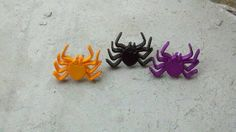 Three Pairs of spider earrings by Shelithas on Etsy, $7.99
