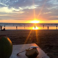 Great place to enjoy some coconut water #Bali #Indonesia #Sunset #Beach #Travel
